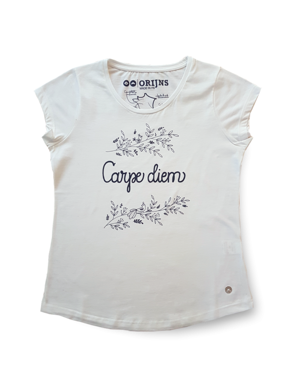 Top femme Made in France Carpe Diem - Blanc