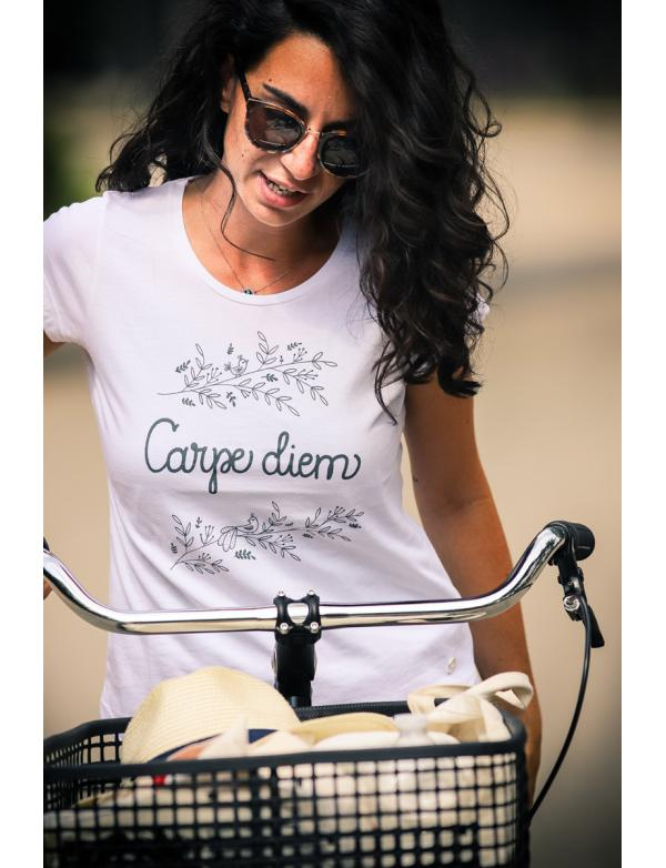 Top femme Made in France Carpe Diem - Blanc