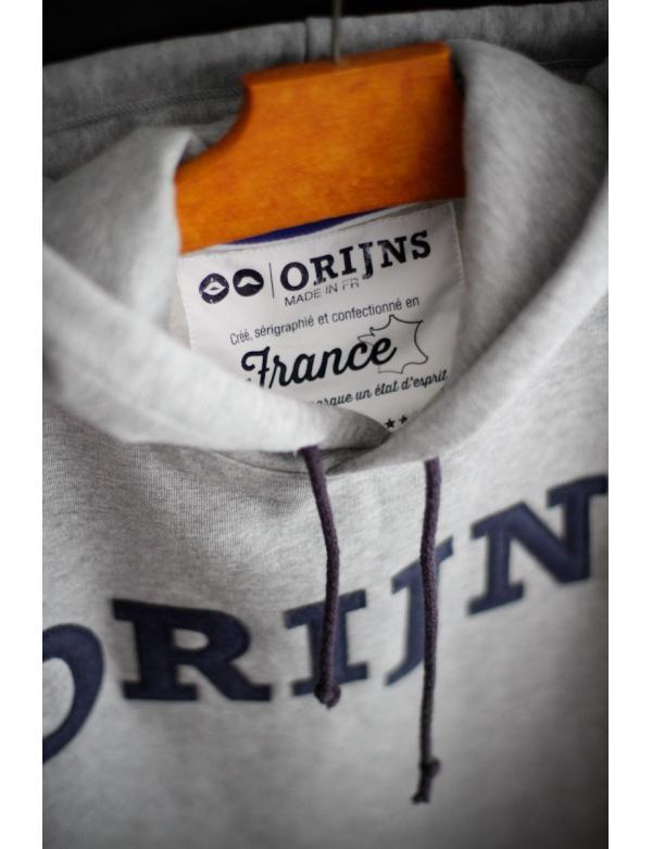Sweat Made in France Orijns gris bleu