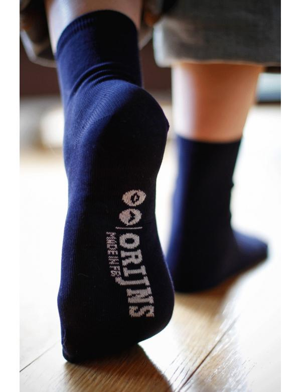 Chaussettes bleu marine Made in France Orijns